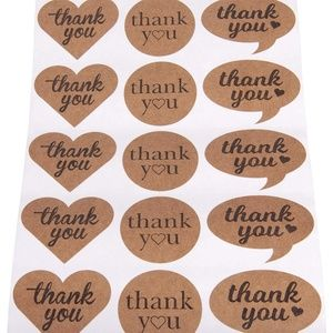 Other - 200 Large Thank You Stickers